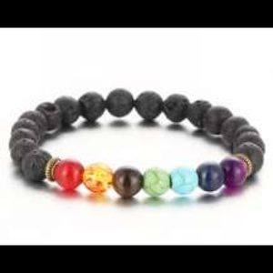 Jewelry - 2 lava bead/7 Chakra stretch bracelets ($7 each)